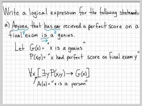 Proof and Problem Solving - Quantifiers Example 01