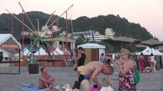Дагомыс - Поездка на отдых на Черном море(пляж набережная вечером Микрорайон находится в южной окраине Лазаревского района, в низовье одноимённой..., 2016-03-20T18:28:46.000Z)