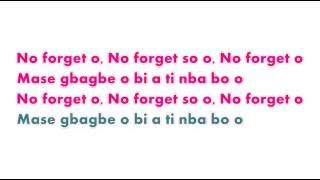 Adekunle Gold ft Simi   No Forget Video Lyrics