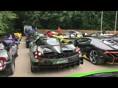 Supercar Run at  Goodwood Festival of Speed 1M Views