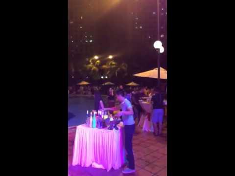Dj summer Huynh pool party khu du lich Van Thanh