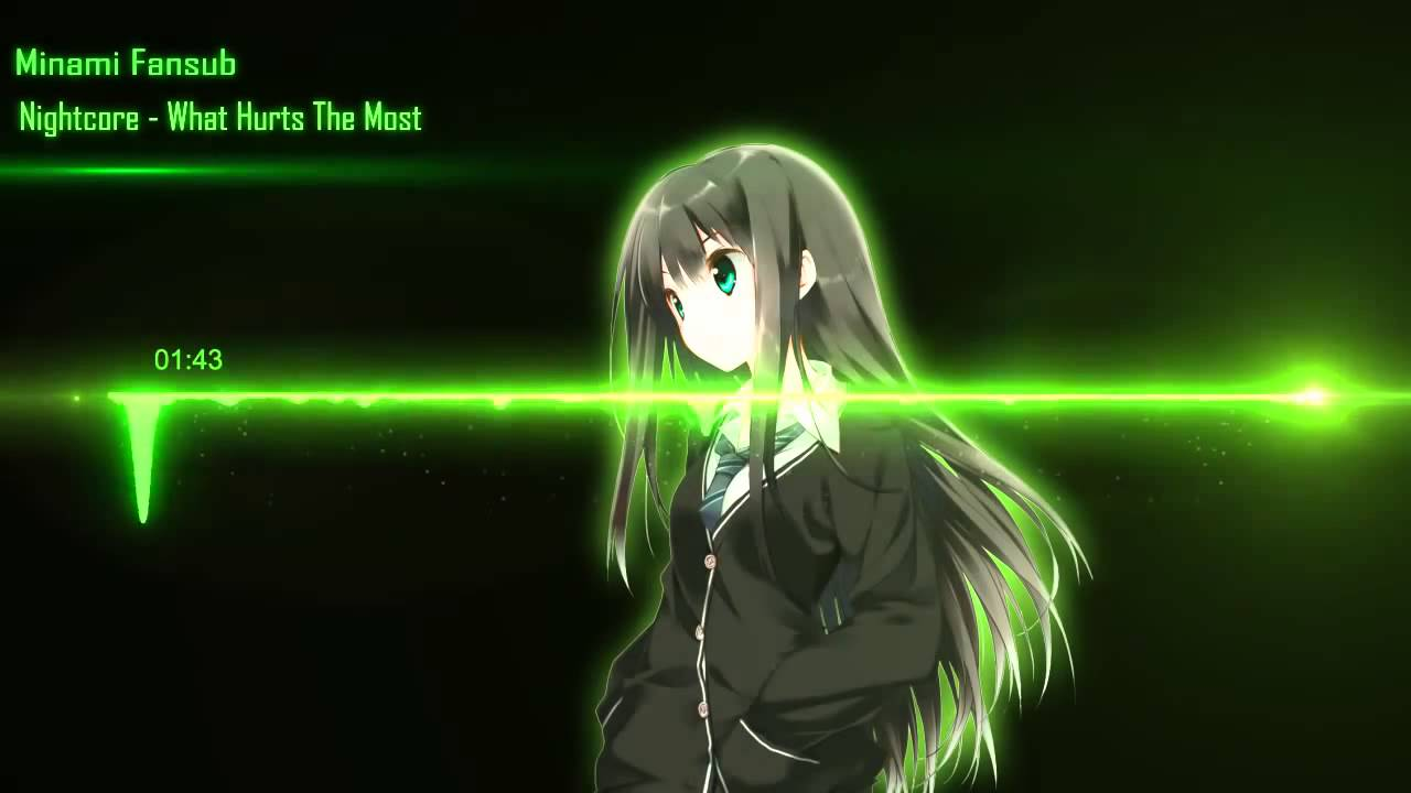 Nightcore What Hurts The Most Youtube