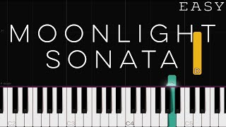 Beethoven - Moonlight Sonata | EASY Piano Tutorial