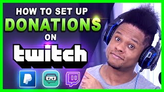 How to set up Donations on Twitch (Streamlabs tutorial)