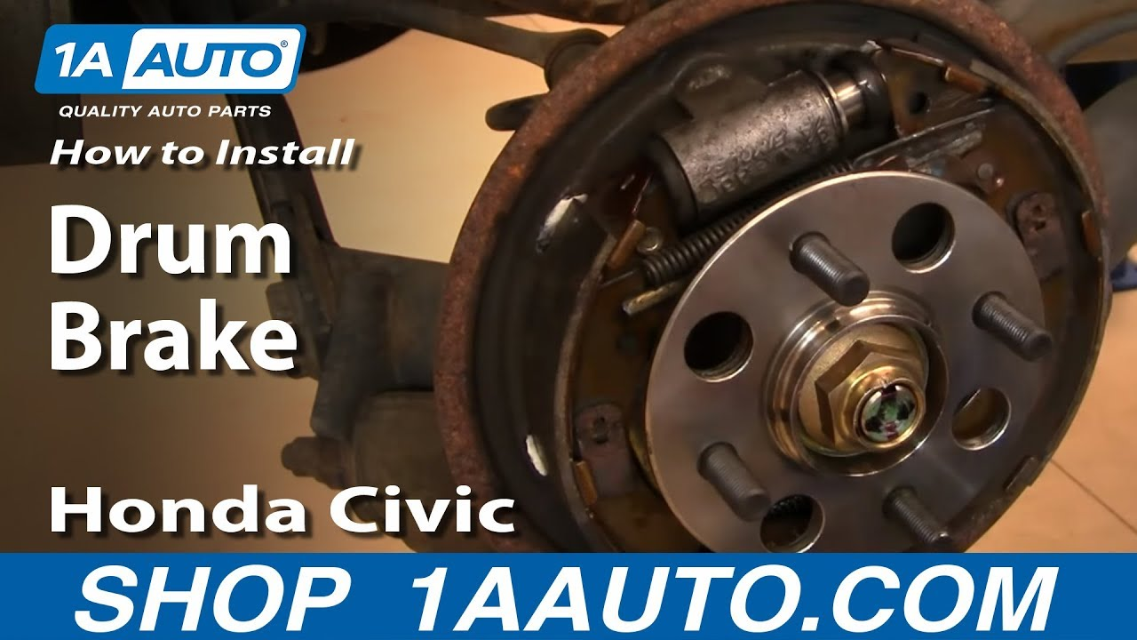 How To Install Replace Rear Drum Brakes Honda Civic 01-05 ...