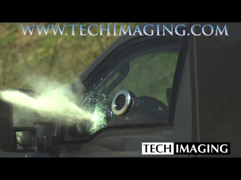 High Speed Camera Video - Armored Truck Window