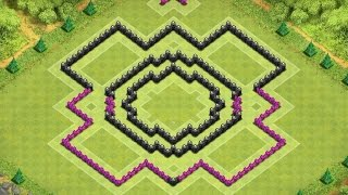 Town hall 8 Trophy Base / War Base( After Halloween Update/4 Mortars) !