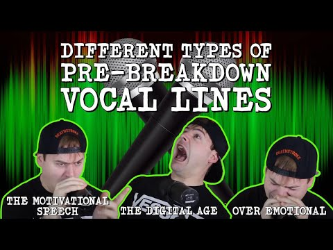 Different Types Of Pre-Breakdown Vocal Lines