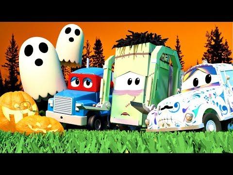 Kompilasi 1 Jam Kartun Anak-anak dengan Truk 🚓 🚒 Kota Mobil Seram yang Menakutkan  🎃
