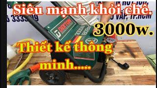 Máy rửa xe cao áp mini  DEKTON DK-CWR 3000W siêu mạnh xe đẩy quá tiện lợi /Máy xây dựng Thái Bảo.