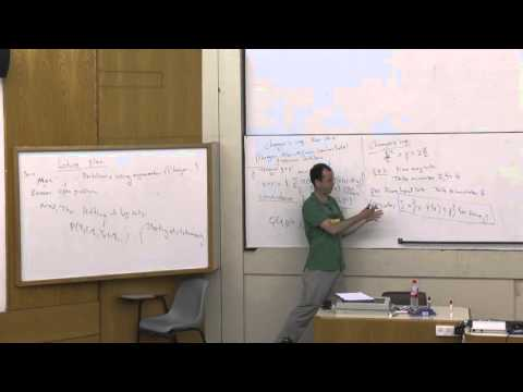 Elchanan Mossel at Technion - mathematics lecture 1