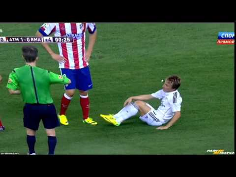 Luka Modrić Red Card Spanish Super Cup Final Vs Atletico 22 August 2014