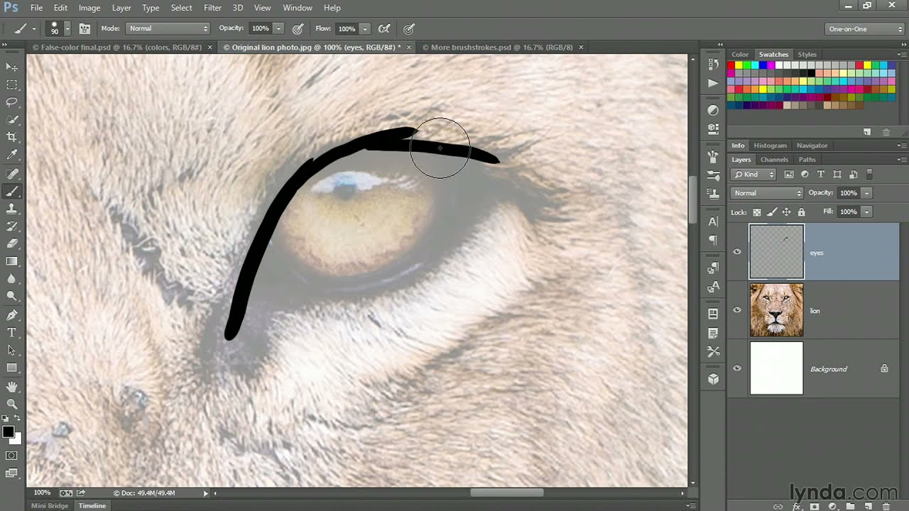 photoshop tutorial hand painting an image with a wacom cintiq