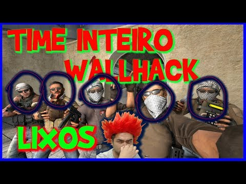 5 HACKERS WALLHACK LIXOS! ADEUS GLOBAL CS:GO #CHATEADO