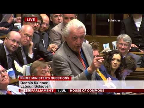 Dennis Skinner PMQs 01/07/2015 ... *No Wonder they call him Dodgy Dave*