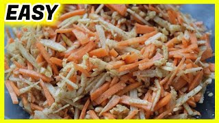 quick and easy carrot and apple salad