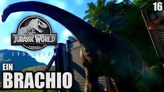 Jurassic World Evolution Deutsch #16 ► Ein Brachio ◄| Let's Play Gameplay German