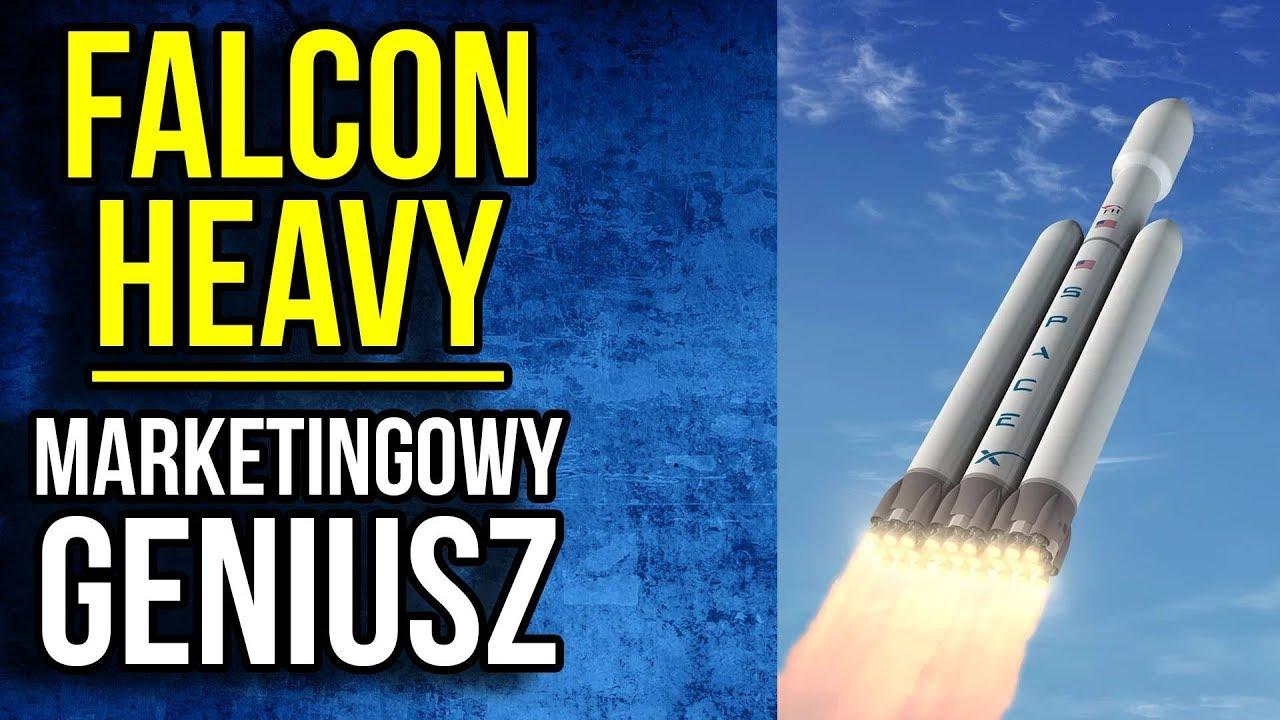 Start Falcon Heavy i UKRYTE SYMBOLE. Tesla Roadster w Kosmosie. Elon Musk GENIUSZ MARKETINGU SpaceX
