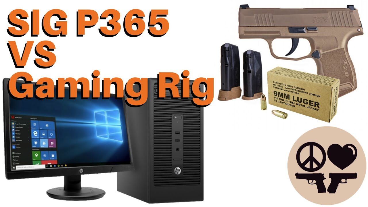 SIG P365 9mm and Desert Tech MDR-X vs PC Gaming Rig 🔥