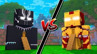 CASA PANTERA NEGRA vs CASA HOMEM DE FERRO !! (Casa vs Casa) - MINECRAFT