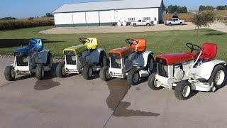 John Deere Patio Series 110 Garden Tractors Sold on Iowa Auction