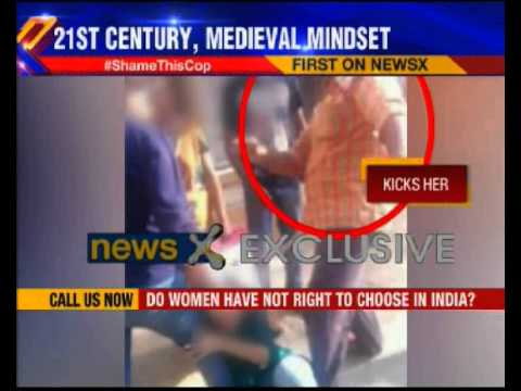 NewsX Exclusive: Cop thrashes his daughter mercilessly on street in Bangalore
