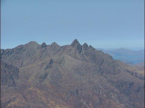 Sgurr nan Gillean aerial footage