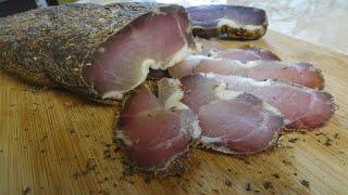Бастурма из свинины вяленое мясо в домашних условиях или полендвица basturma