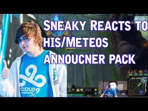 Sneaky reacts to /u/ProDread 's Sneaky & Meteos custom announcer pack