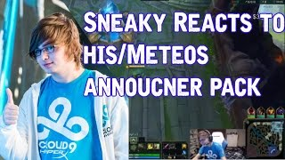 Sneaky Reacts to Sneaky/Meteos announcer pack (Download link inside)