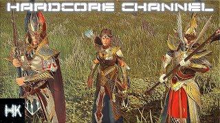 Total War Warhammer 2 - Империи Смертных прохождение Hardcore Высшие эльфы =15= Война с Орками
