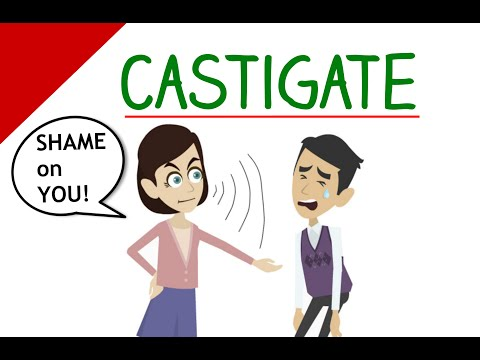 Learn English Words - Castigate (Vocabulary Video)