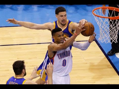 Klay Thompson Defense On Russell Westbrook, March 16, 2019