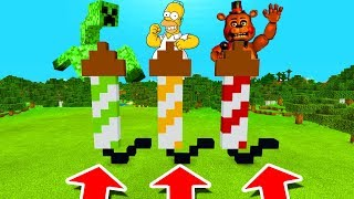 Minecraft PE : DO NOT CHOOSE THE WRONG FIREWORKS! (Mutant Creeper, Homer Simpson & FNAF)
