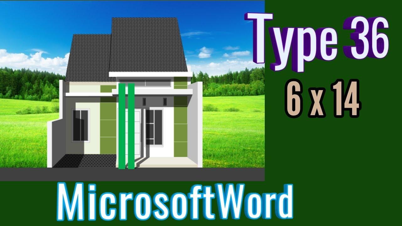 Rumah Type 36 ( Menggambar Rumah dengan Kata TYPE 36 ...