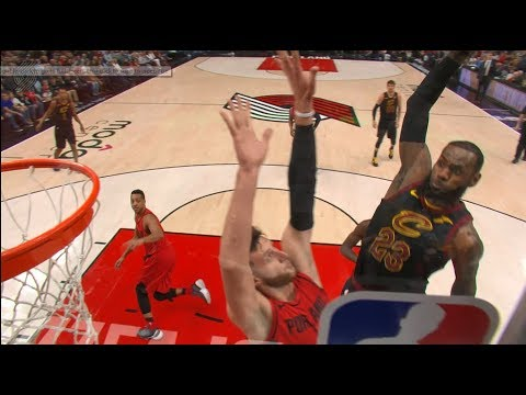 LeBron James' dunk drops jaws, Jusuf Nurkic's decision to contest draws respect