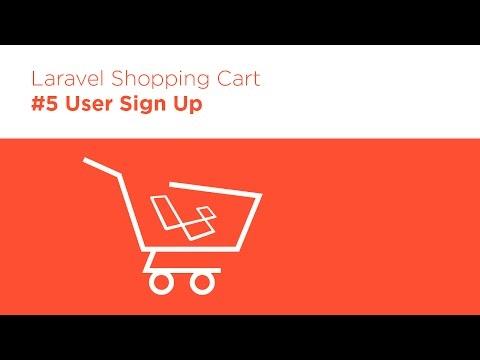 [Programming Tutorials] Laravel 5.2 PHP - Build a Shopping Cart - #5 User Sign Up