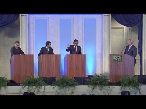 Kevin McCarthy, Bill Richardson, Bobby Jindal, Rick Perry at Bakersfield Business Conf.