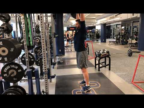 BB Power Clean from Above Knees + Press