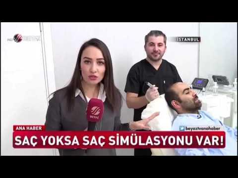 Saç Simülasyonu Serkan Bozkurt Beyaz tv Ana Haber