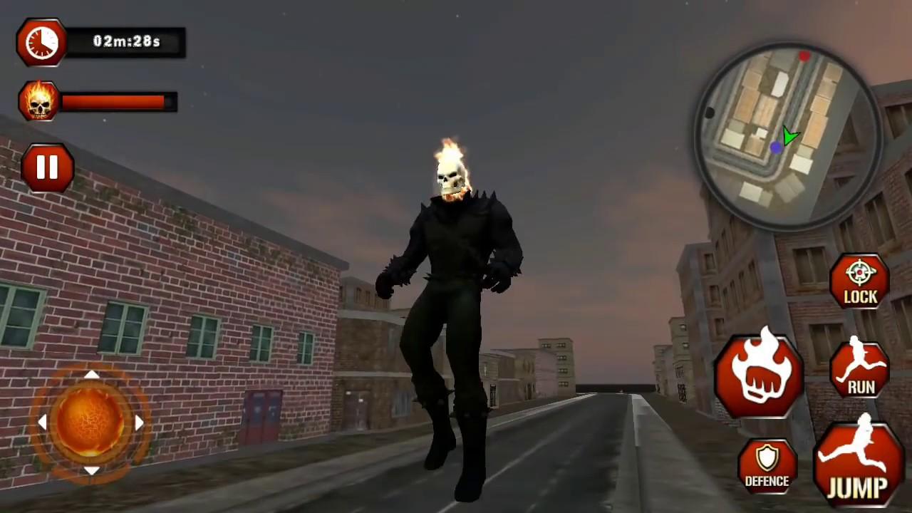 ► Ghost Fire Skull Superhero Rider Adventure Battle (Dolphin Games)  Superhero Ghost Rider Escape