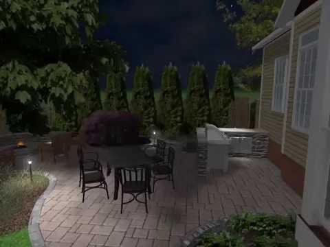 Virtual Landscape Walkthrough Design Nighttime