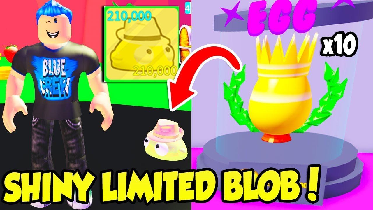 Roblox Blob Simulator Youtube I Got The Shiny Limited Event Blob In Blob Simulator 2 Insane Roblox Youtube