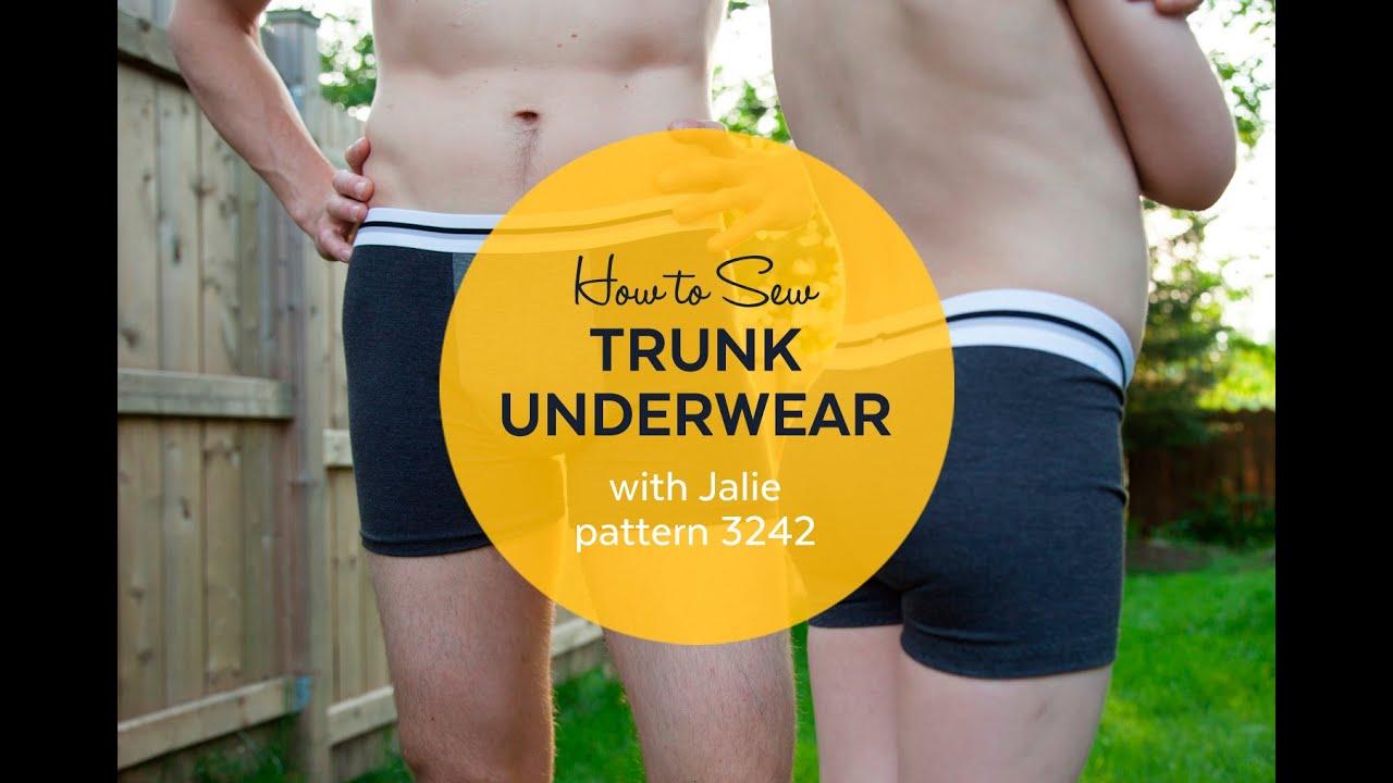 b7997e00481c4 How to Make Men s Trunk Underwear (Jalie pattern 3242) - YouTube