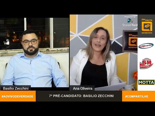 Em Pauta Entrevista pré-candidato Basílio Zecchini