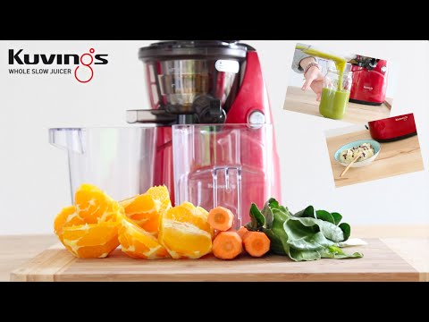 Hurom Slow Juicer Banana Ice Cream : 03 Kuvings whole slow juicer smoothie maker Doovi