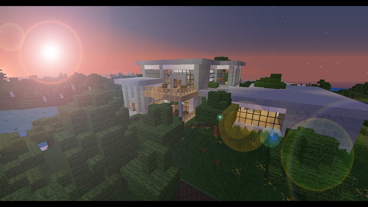 Minecraft Modern House With Indoor Outdoor Pool Free Schematic Download At 100 Likes