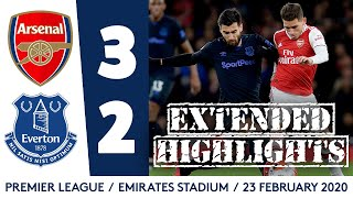 EXTENDED HIGHLIGHTS: ARSENAL 3-2 EVERTON