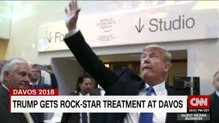 Trump's rock star reception at Davos