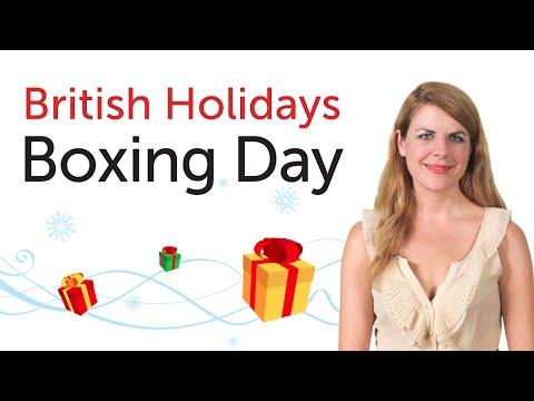 British English Holidays - Boxing Day
